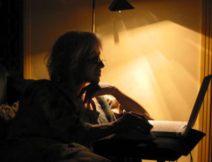Writer at work.
