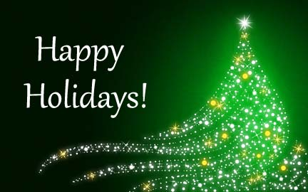 Shimmering Christmas Tree On Christmas, Green Background through